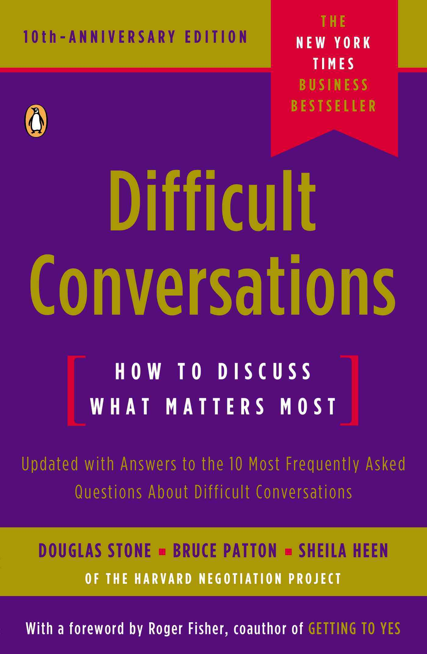 Difficult Conversations By Stone, Douglas/ Patton, Bruce/ Heen, Sheila/ Fisher, Roger (FRW)